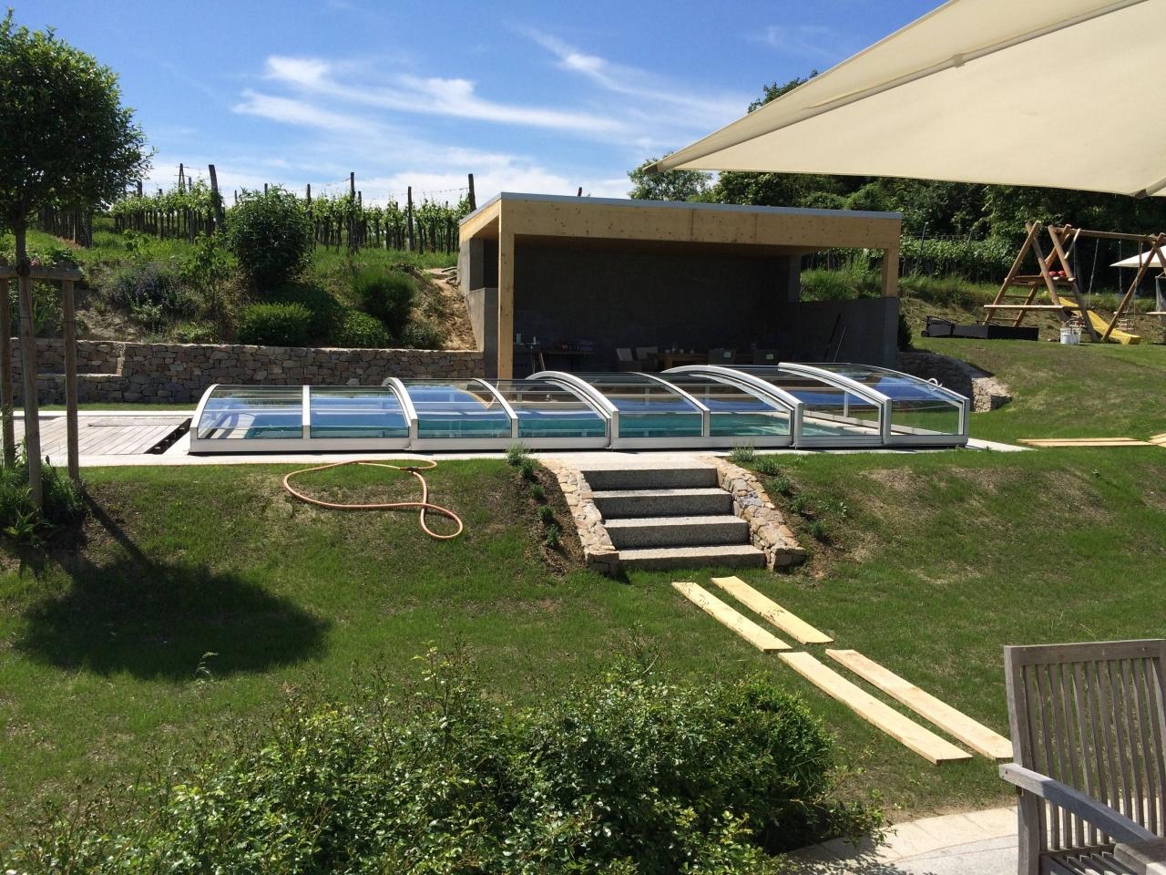 Poolhaus / Pooldach und Grillecke - Bauanleitung zum Selberbauen - 1 ...