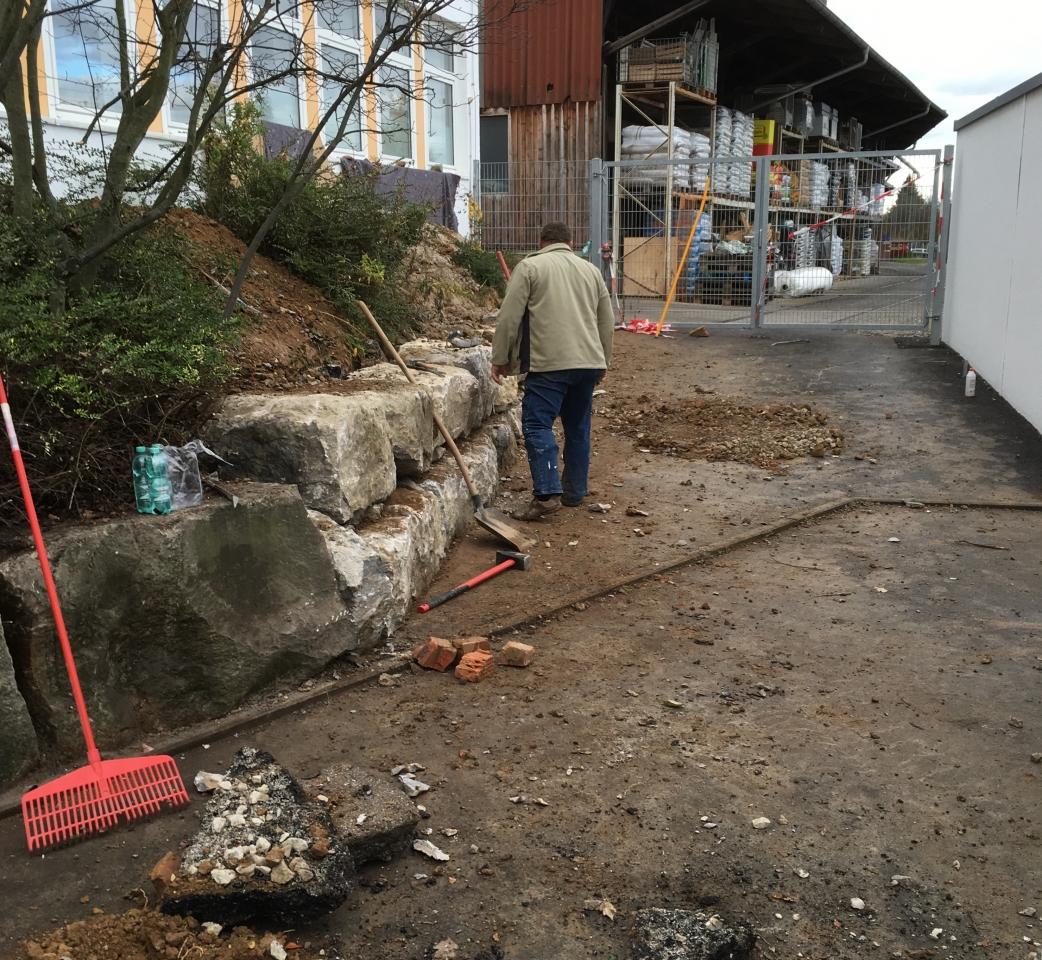 granitmauer setzen - bauanleitung zum selberbauen - 1-2-do