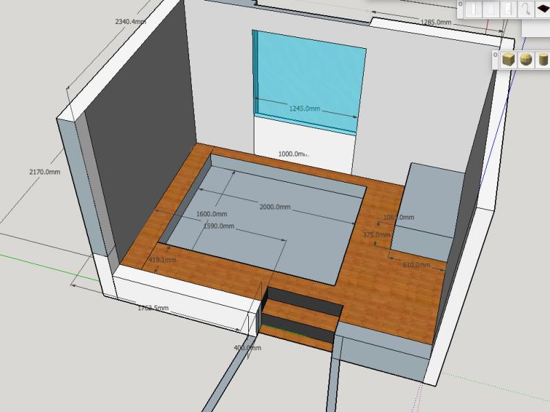 das schlafzimmer hinter der geheimt r podestbett bauanleitung zum selberbauen 1 2. Black Bedroom Furniture Sets. Home Design Ideas