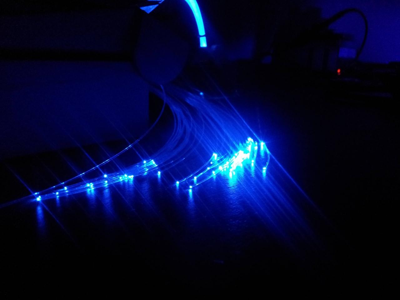 eigenbau lichtgenerator sternenhimmel, 9 watt 560 fasern