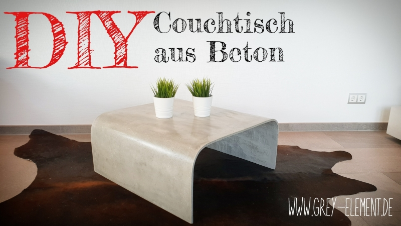 Hervorragend Einen 10 mm starken Tisch aus Beton bauen / DIY - Bauanleitung zum LL02