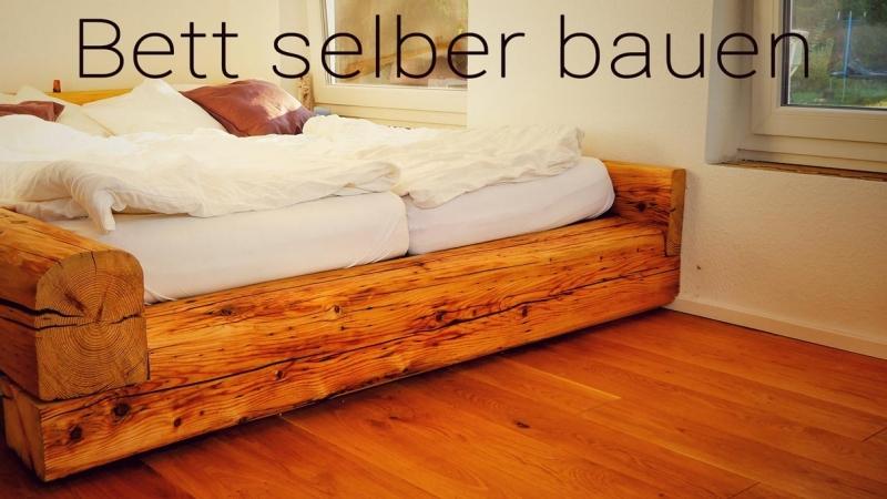 Fabulous Bett aus alten Balken - Bauanleitung zum Selberbauen - 1-2-do.com CK21