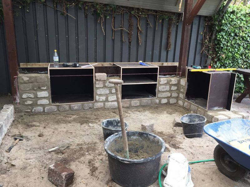 Fundament Für Außenküche : Fundament für eine außenküche grillforum und bbq