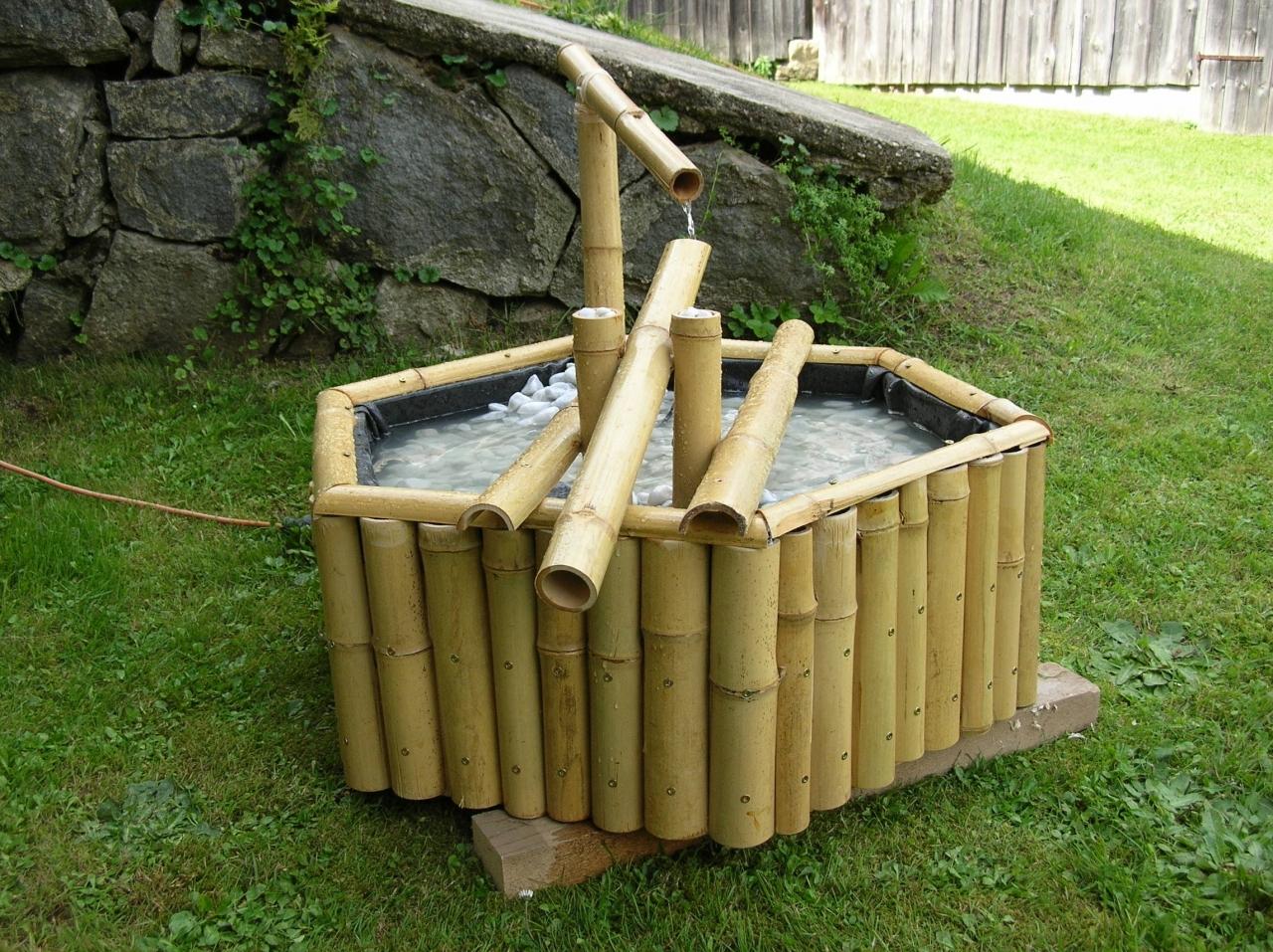 shishi odoshi - springbrunnen - bauanleitung zum selberbauen - 1-2