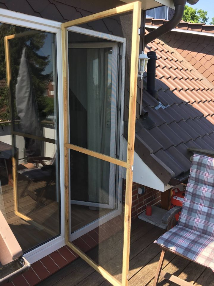 Bekannt DIY Fliegen- Insektenschutztür - Bauanleitung zum Selberbauen - 1 LK24
