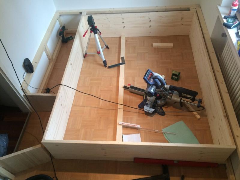 Das Schlafzimmer hinter der Geheimtür - Podestbett - Bauanleitung ...