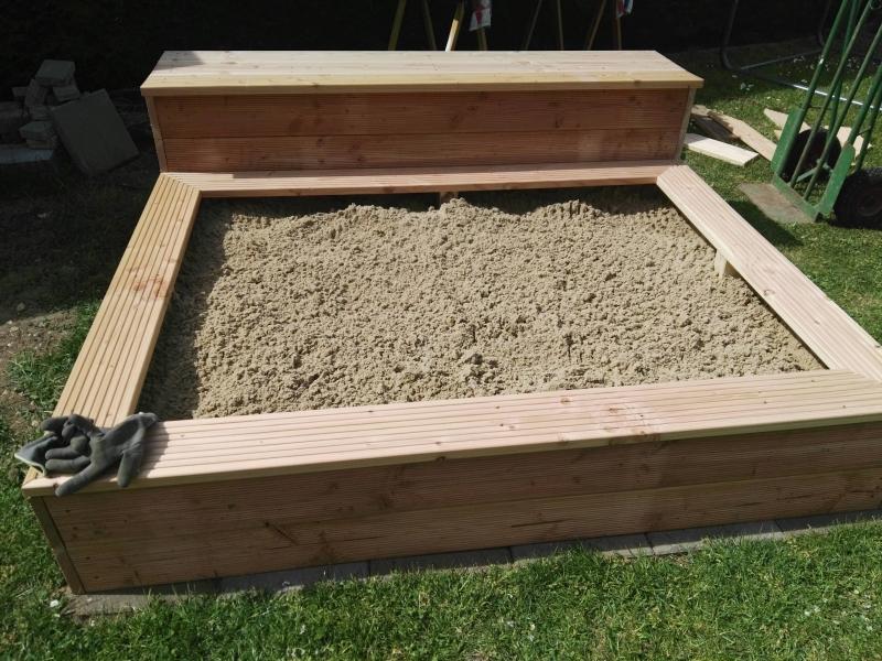 sandkasten selber bauen, sandkasten mit integrierter bank - bauanleitung zum selberbauen - 1, Design ideen
