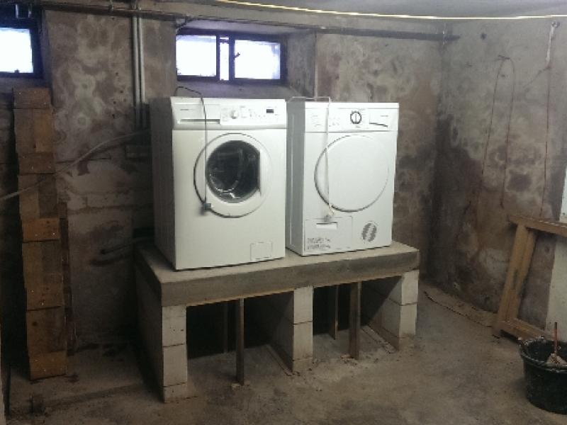 Podest für waschmaschine und trockner bauanleitung zum selberbauen