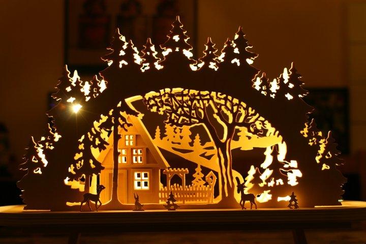 Weihnachtlicher Schwibbogen Bauanleitung