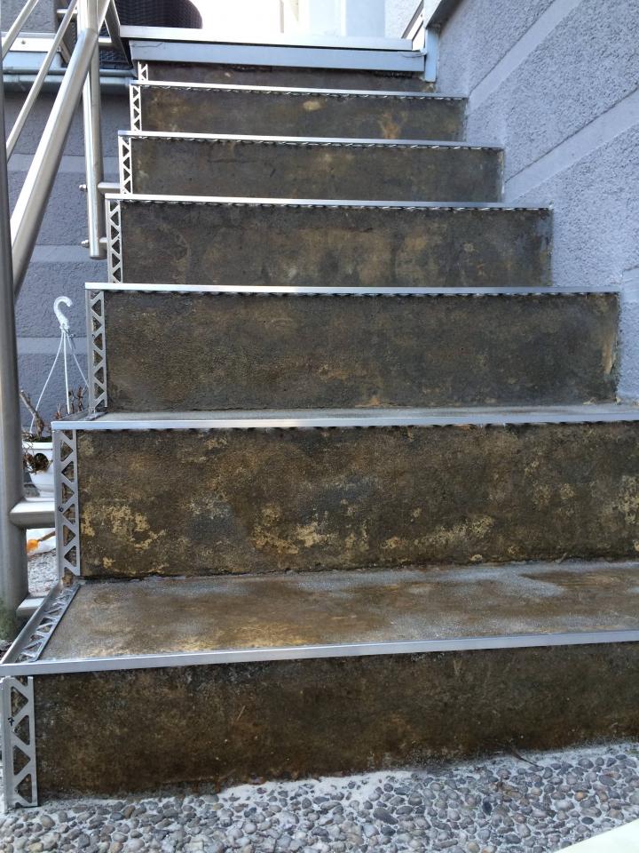 Fabulous Außentreppe mit Steinteppich sanieren - Bauanleitung zum HB88