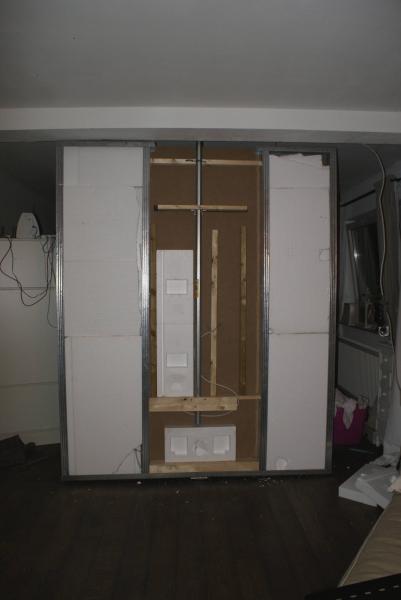 Drehbare tv wand als raumteiler bauanleitung zum selberbauen 1 2 deine heimwerker - Raumteiler tv wand ...