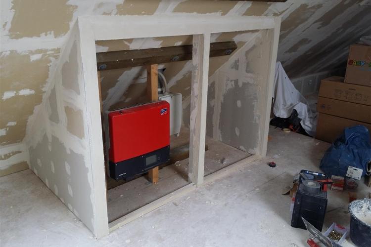 auf dem dachboden eine trockenbau wand schrank errichten bauanleitung zum selberbauen 1 2. Black Bedroom Furniture Sets. Home Design Ideas