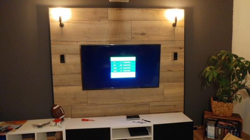 Tv Wand Aus Eichen Parkett Oder Laminat Bauanleitung Zum