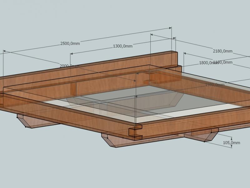 balkenbett bauanleitung zum selberbauen 1 2 deine heimwerker community. Black Bedroom Furniture Sets. Home Design Ideas