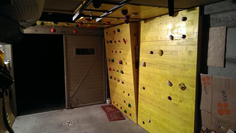 Kletterwand im Garage - Bauanleitung zum Selberbauen - 1-2 ...