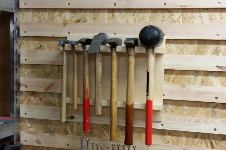 French cleat wand hammerhalterung bonus einzelhalterungen bauanleitung zum selberbauen - Werkzeugwand selber bauen ...