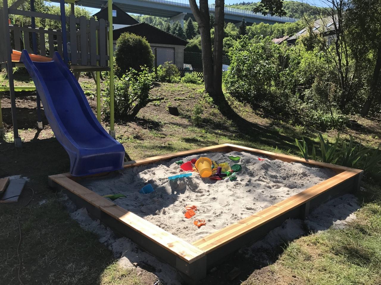 sandkasten für das spielhaus - bauanleitung zum selberbauen - 1-2-do