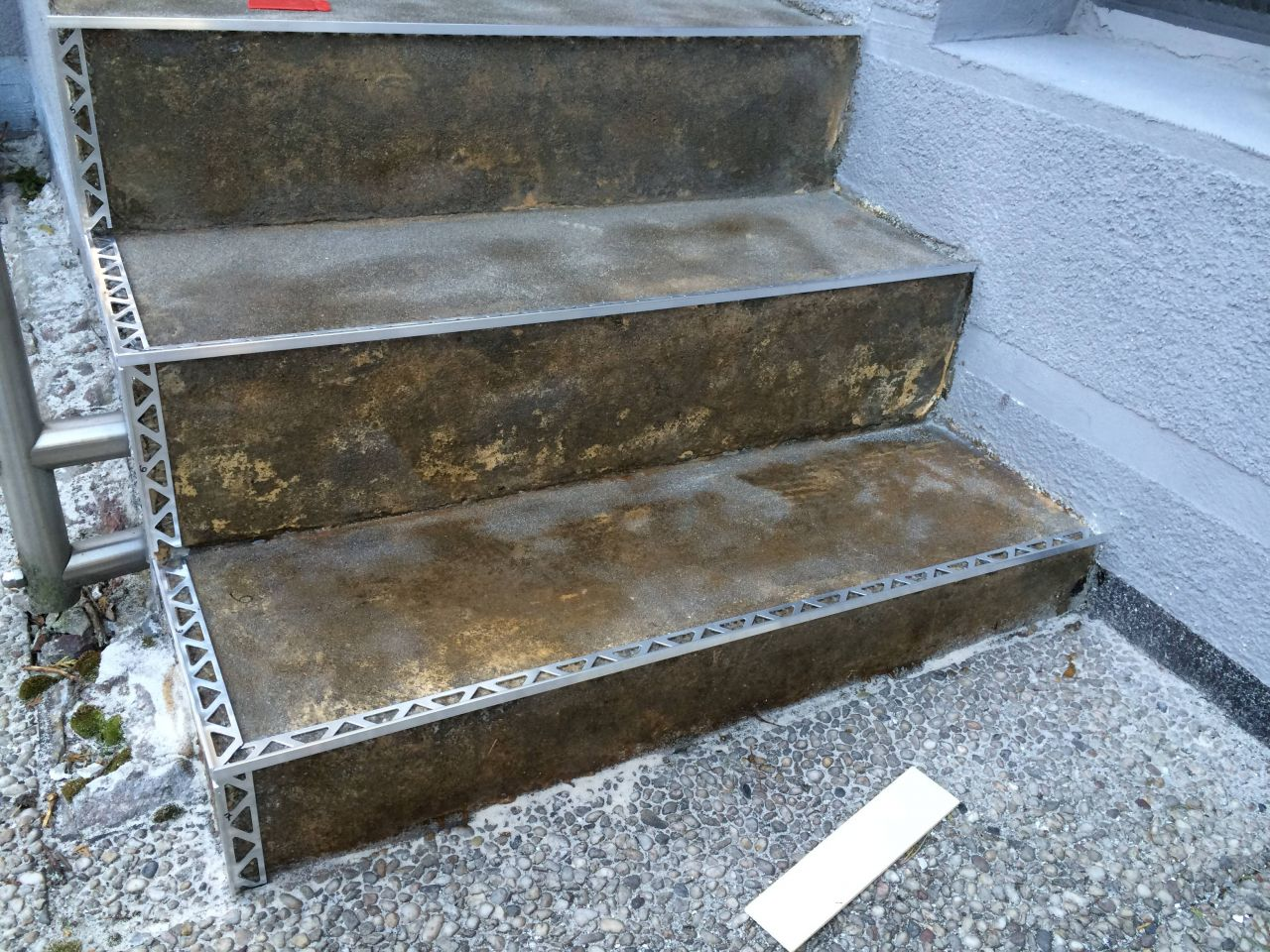 außentreppe mit steinteppich sanieren - bauanleitung zum selberbauen
