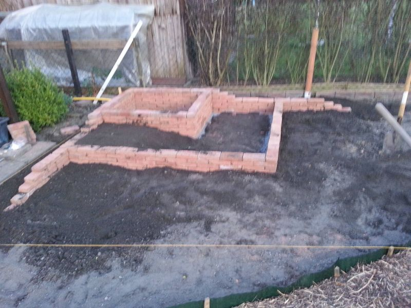 Hochbeet Mit Ziegelsteinen Als Trockenmauer Bauanleitung Zum