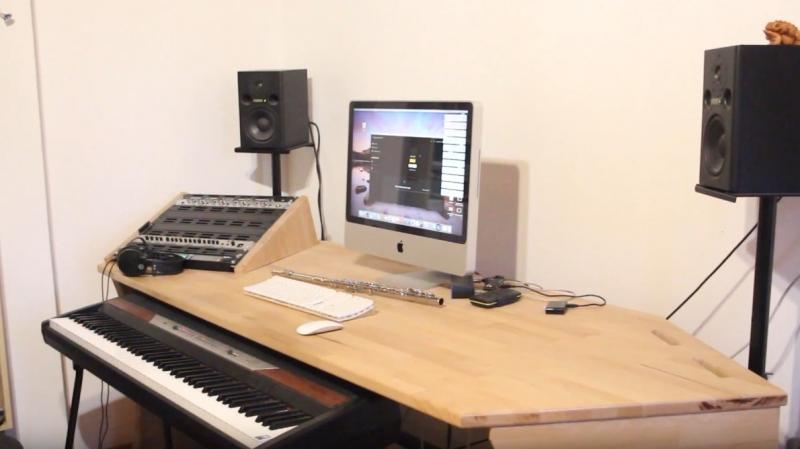 Turbo Studiotisch / Tisch für unser Musikzimmer - Bauanleitung zum FJ02