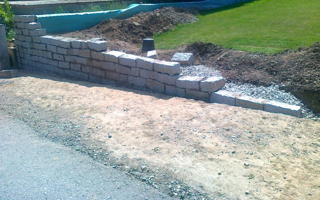 bau einer granit trockenmauer - bauanleitung zum selberbauen - 1-2