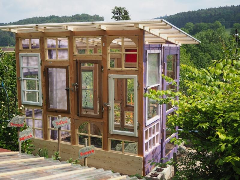 Gartenhaus Gewächshaus Aus Alten Fenstern Bauanleitung Zum