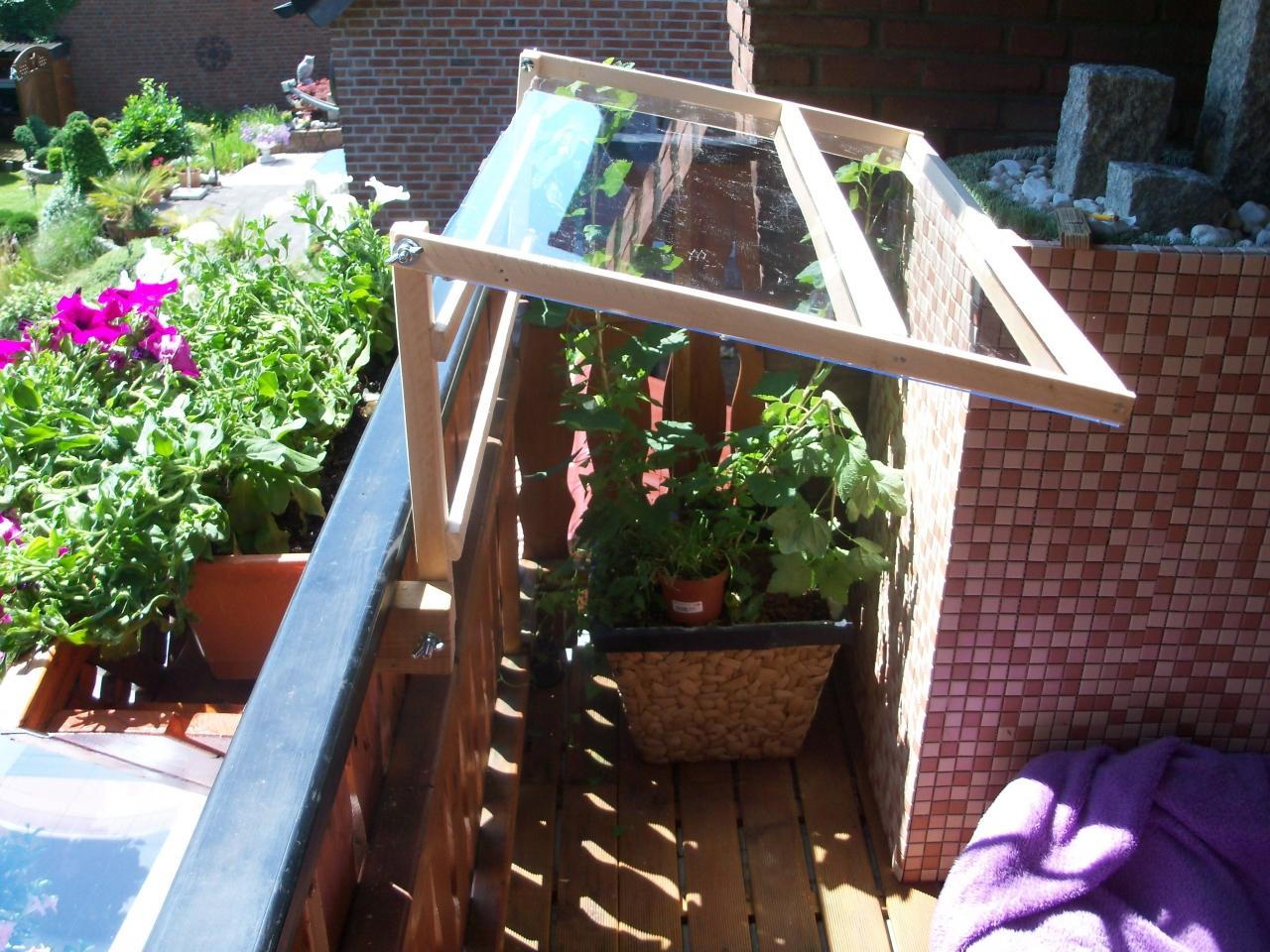 Allwetterschutz Fur Meine Balkonblumen Bauanleitung Zum
