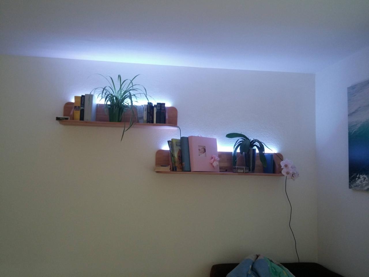 Faszinierend Wandboard Selber Bauen Foto Von Wandregal Mit Indirekter Beleuchtung - Bauanleitung Zum