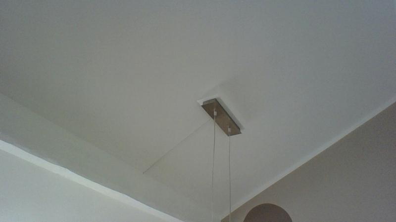 Holzkonstruktion Fur Lampen Baldachin Bei Dachschrage
