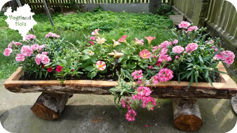 Blumentrog aus einem Holzstamm selber bauen - Bauanleitung ...
