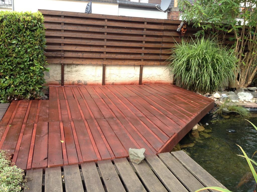 Fußboden Aus Palettenholz ~ Terrasse aus europaletten bauanleitung zum selberbauen 1 2 do