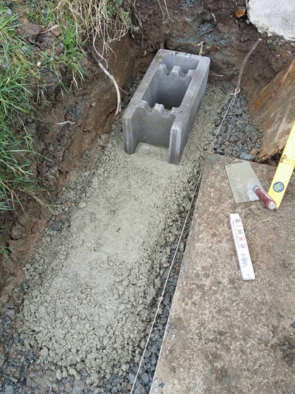 Gut gemocht Errichten einer Mauer aus Schalungssteine - Bauanleitung zum NK32