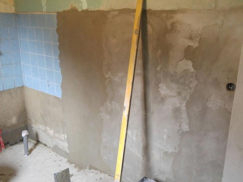 Badsanierung In Eigenleistung Neue Bilder Bauanleitung Zum - Fliesen verputzen überputzen