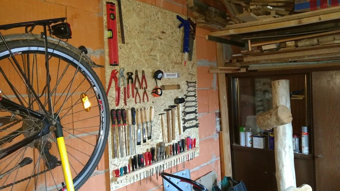 Werkzeugwand Holz
