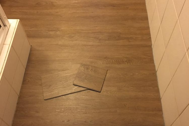 verlegung designboden klick vinyl bauanleitung zum selberbauen 1 2 deine heimwerker. Black Bedroom Furniture Sets. Home Design Ideas