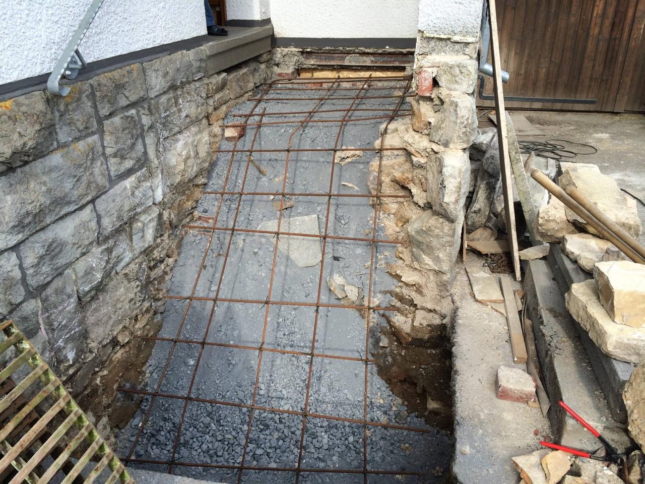 hauseingangstreppe aus granit - bauanleitung zum selberbauen - 1-2