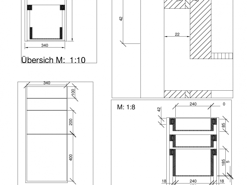 Aus Holzresten wird Küchenschrank mit Holzvollauszügen ...