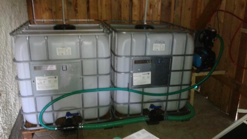 Top Regenwasser Speicher mit IBC Tanks - Bauanleitung zum Selberbauen ON42