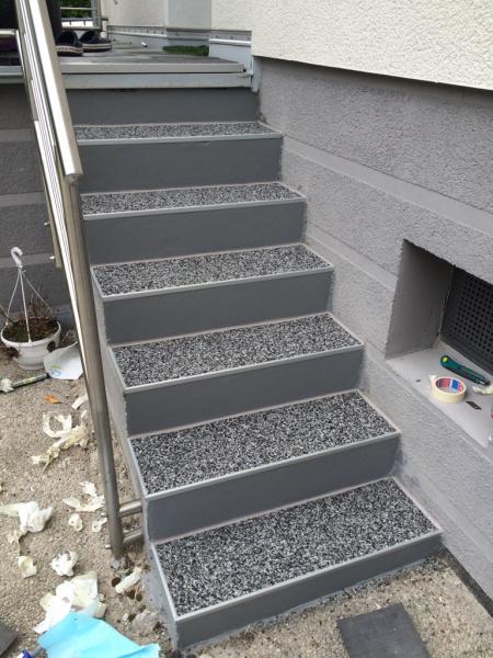 Bevorzugt Außentreppe mit Steinteppich sanieren - Bauanleitung zum QT25