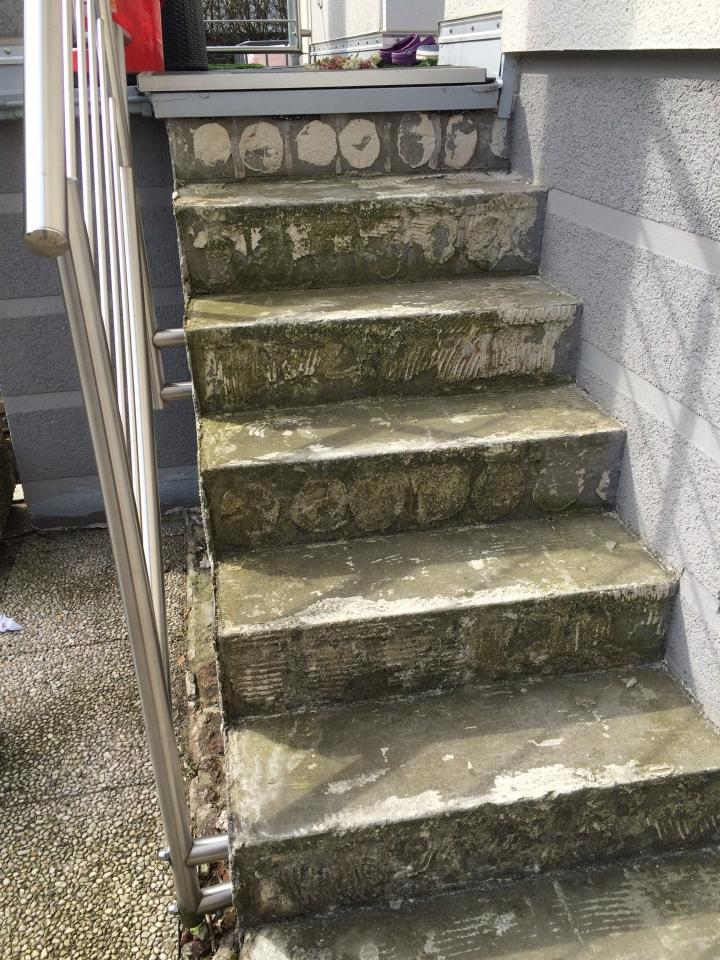 Fabulous Außentreppe mit Steinteppich sanieren - Bauanleitung zum WS99