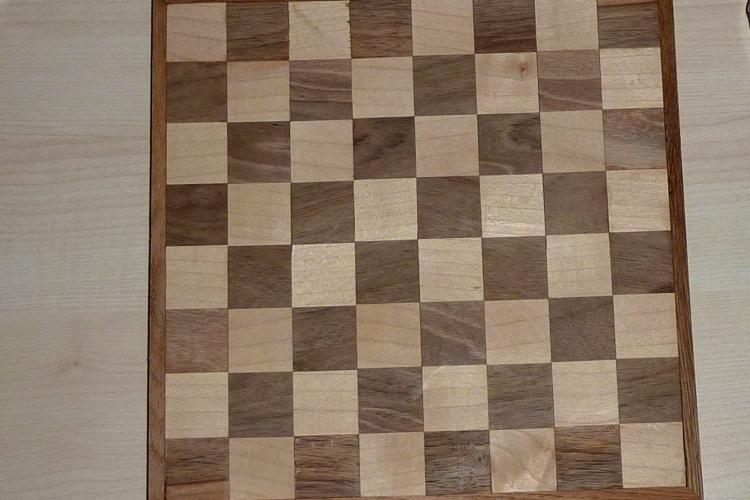 Ein Schachbrett Mit Der Tischkreissage Bauanleitung Zum