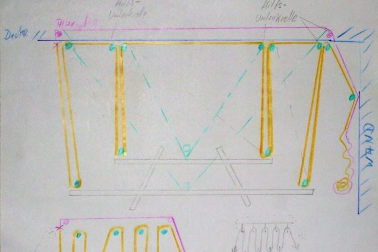 reifen oder auch tischplatten lift flaschenzug. Black Bedroom Furniture Sets. Home Design Ideas