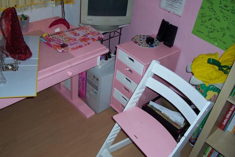 Schreibtisch Rosa Weiß 2021