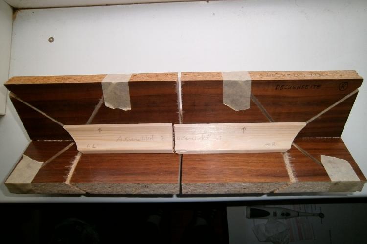 gehrungslade f r hohlkehlleisten dreiecksleisten deckenleisten u bauanleitung zum. Black Bedroom Furniture Sets. Home Design Ideas