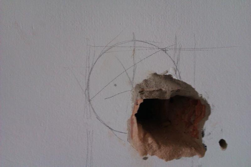 Sehr Loch in die Wand ..Kaminofenanschluss. - Bauanleitung zum DT54