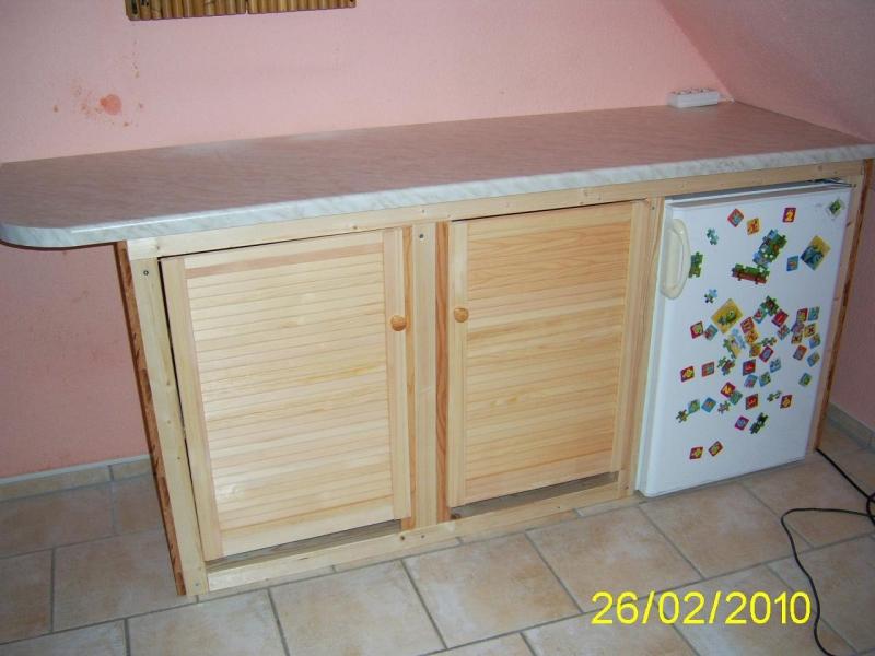 K chenschrank mit k hlschrank einschub und arbeitsplatte for Kuchenschrank mit kuhlschrank