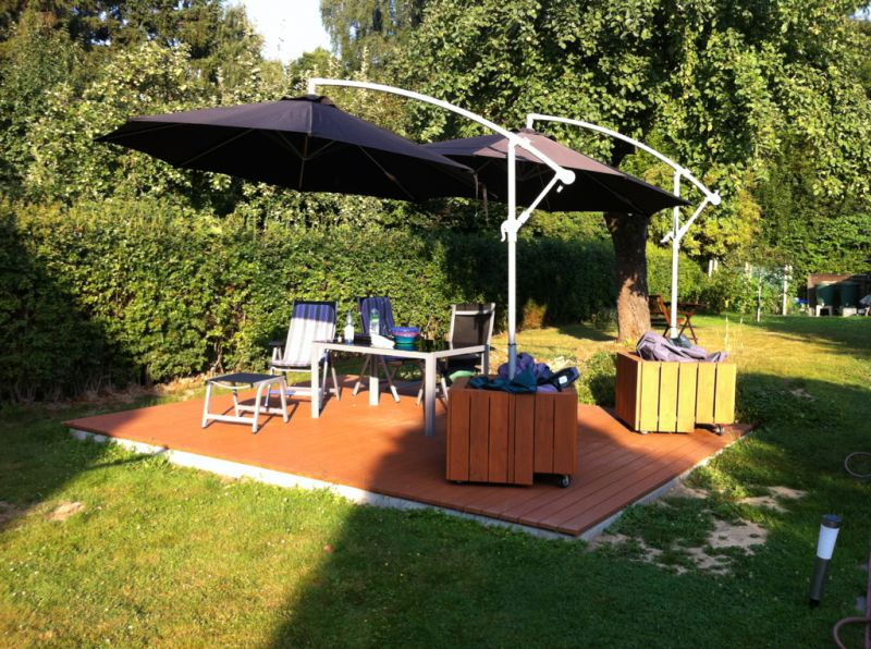 Relativ mobiler Sonnenschirmständer - Bauanleitung zum Selberbauen - 1-2 WA79