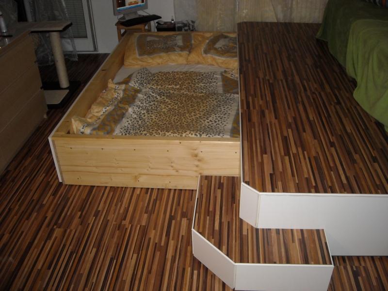 Extrem Podest mit Bett - Bauanleitung zum Selberbauen - 1-2-do.com NH95