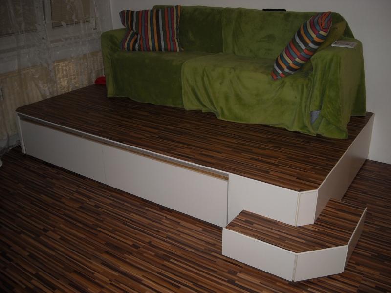 podest bett bauen wohn design. Black Bedroom Furniture Sets. Home Design Ideas