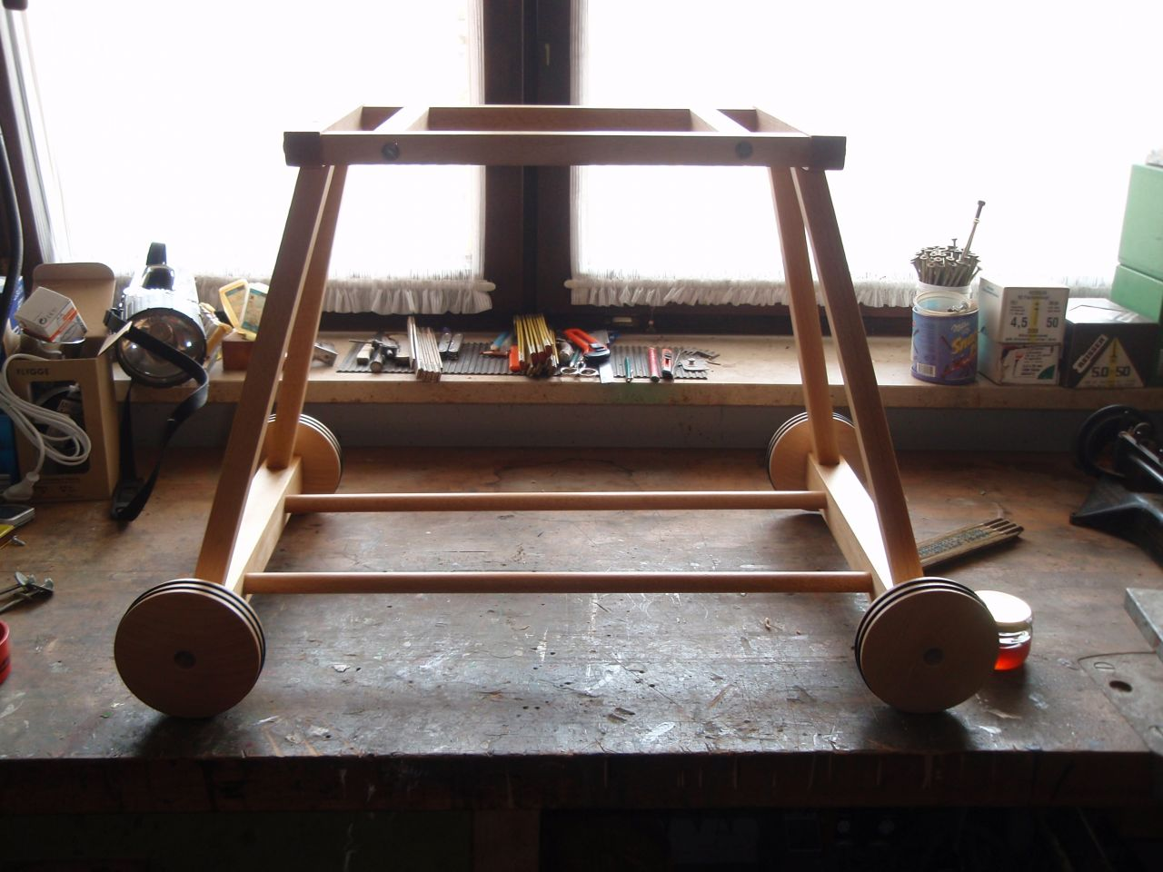 Stubenwagengestell für alten korb bauanleitung zum selberbauen 1